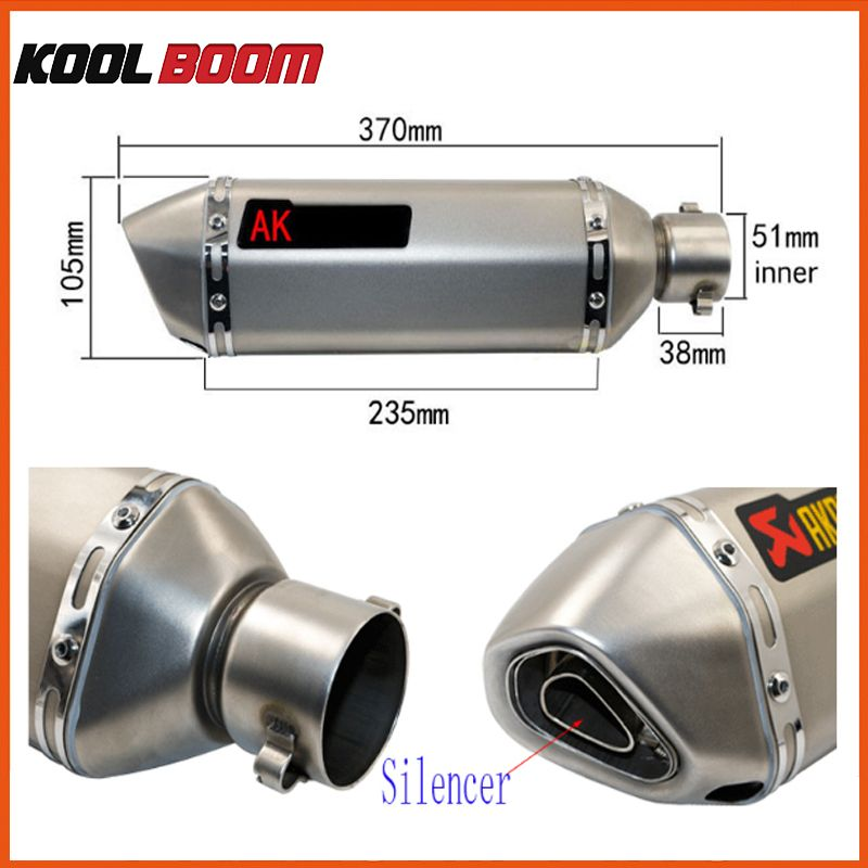 z750 cbr190 motorcycle exhaust pipe muffler 800cc 500cc motocross scooter akrapovic exhaust tubo escape moto escapamento de moto