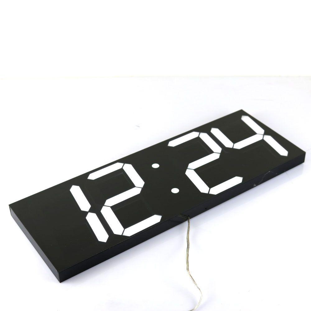 Large Digital Wall Clock Modern Design Wall Watch Timer Countdown Calendar Temperature Weather Station Home Decor Nixie Clock