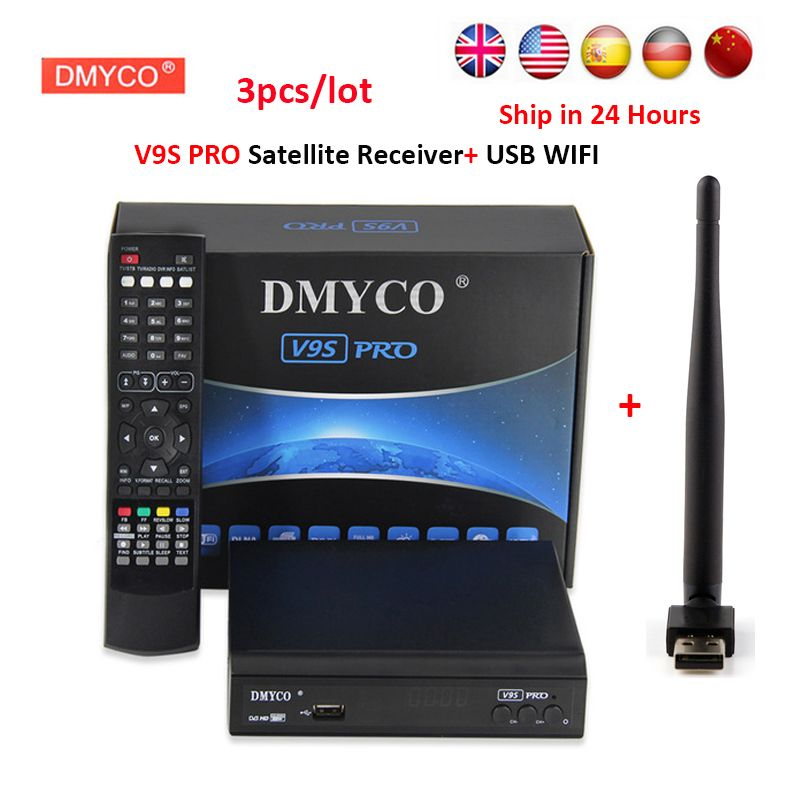 DVB-S2 Satellite Récepteur FTA HD 1080 p Satellite TV décodeur internet partage soutien clines/newcam/mgcam/biss clé avec USB WIFI