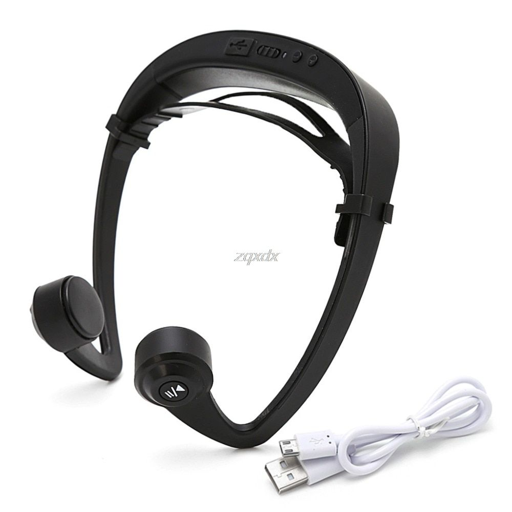 V9 Ear Hook Bone Conduction Bluetooth 4.2 Sports Headphone Headset With Mic Adjustable headband For Android IOS Smartphone