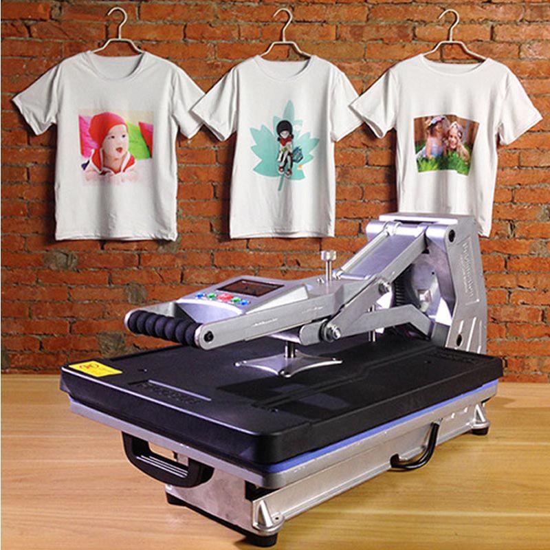 ST-4050A 40x50 cm Hydraulische Sublimation Drucker Hitze Presse Maschine T-shirt Druckmaschine Telefon Fall/Tasche/Puzzle /Rock/Glas