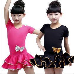 Bazzery rok kompetisi tari latin dance dress ballroom dresses lengan pendek hitam/rose warna tahap lakukan rok One piece