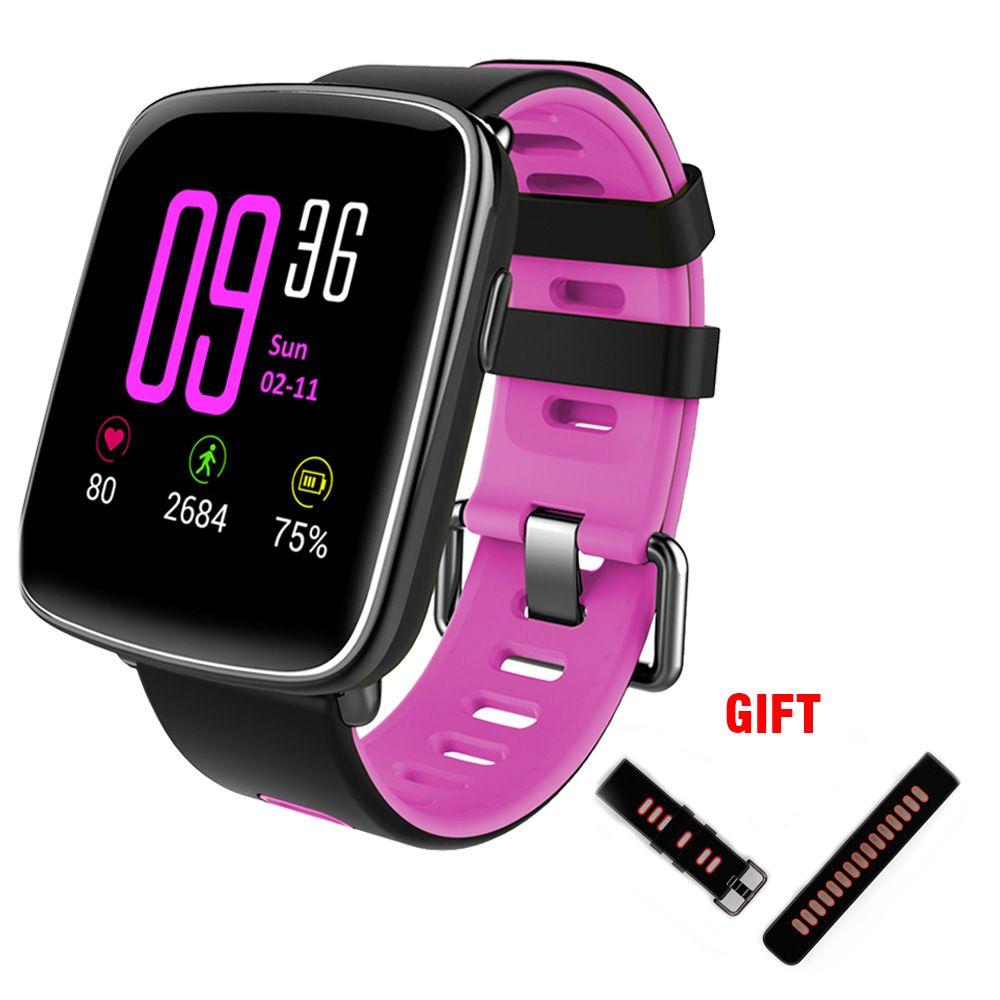 Kaimorui GV68 montre intelligente étanche Ip68 moniteur de fréquence cardiaque avec bracelet remplaçable pour Android et IOS Bluetooth Smartwatch