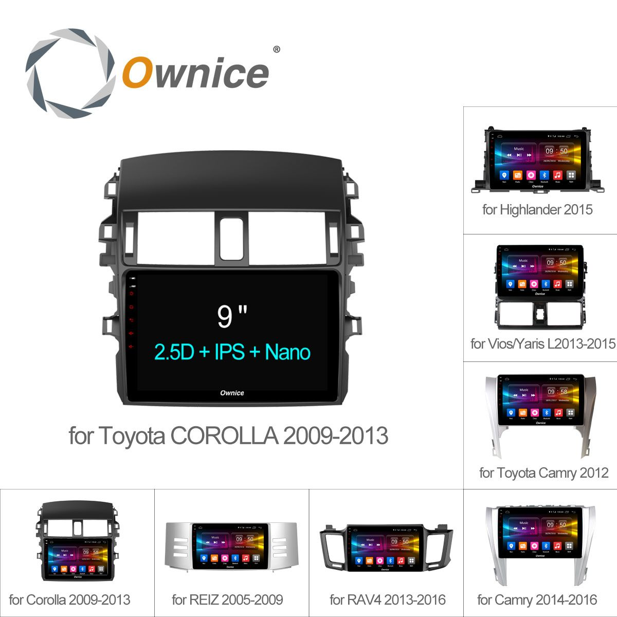 Ownice C500+ Android 6.0 8 Core Car Radio GPS DVD For Toyota Universal corolla RAV4 CAMRY Highlander VIOS YARiS L REIZ 2015 2016