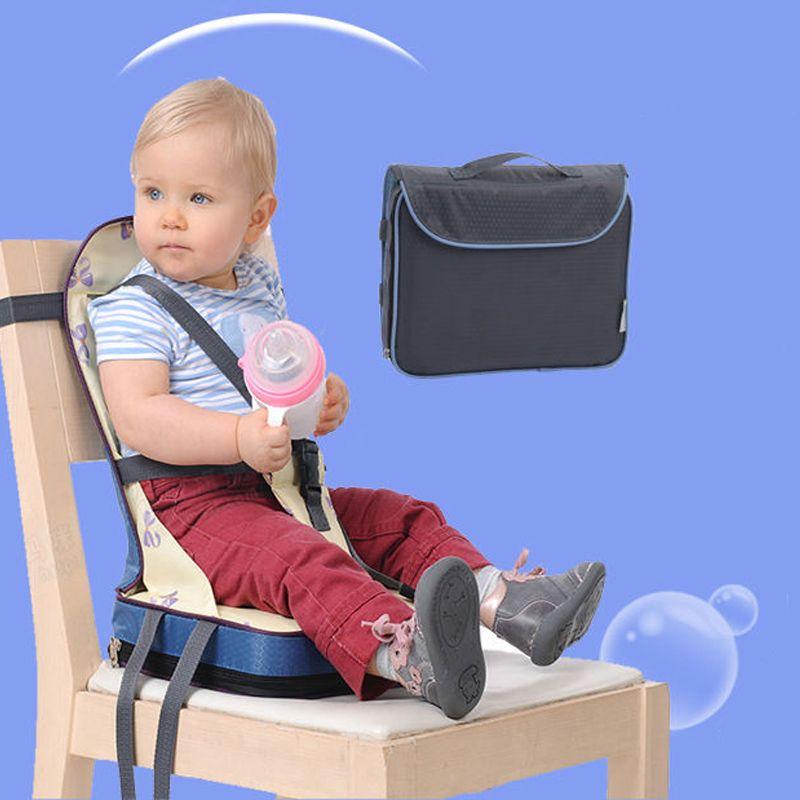 Pliable chaise bébé Portable Poids Léger Siège bébé Alimentation Bébé siège de haute qualité Ceinture de Sécurité booster Siège manger À Manger Chaise