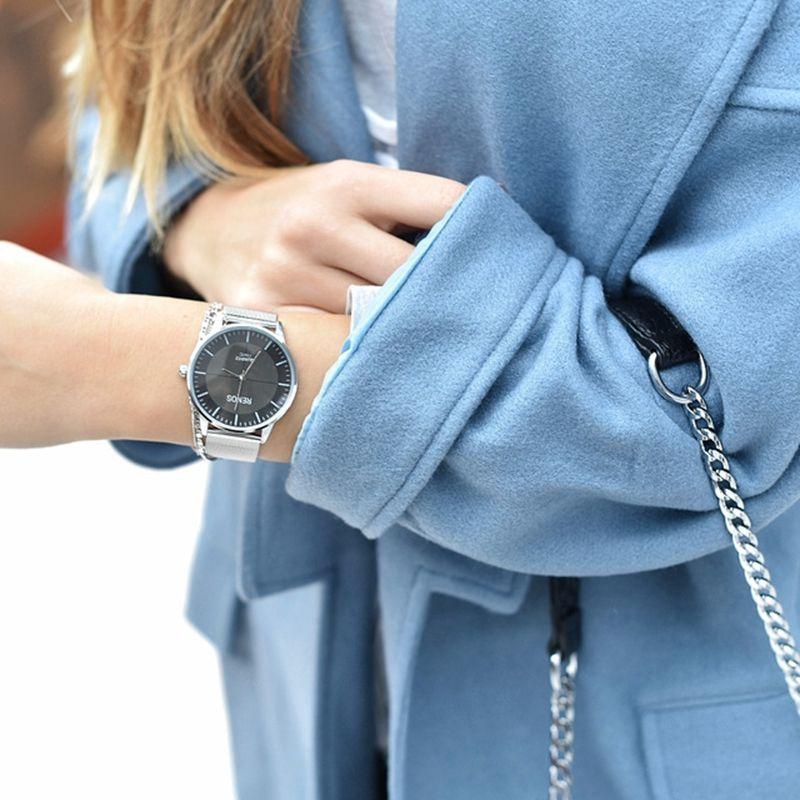 RENOS femmes montre en boîte Simple Quartz montres mode décontracté amant Couple montres dames femme livraison gratuite en gros