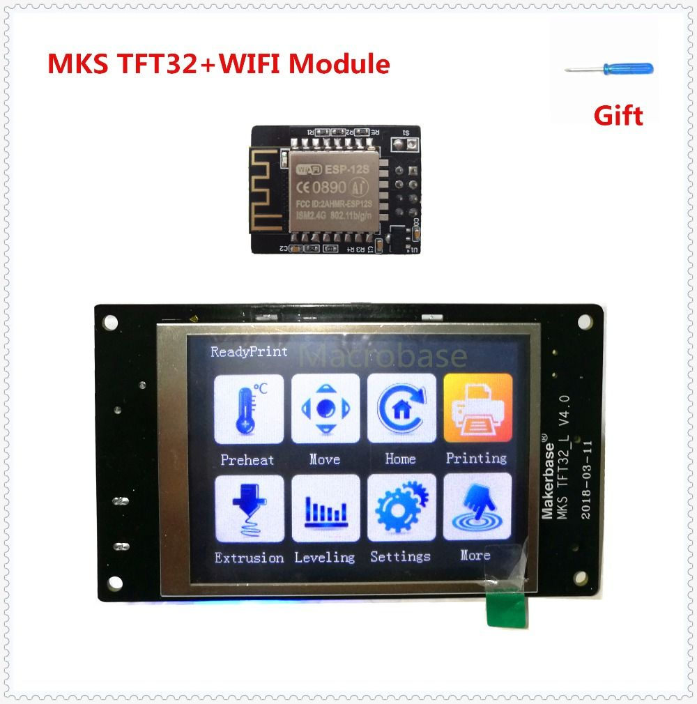 MKS TFT32 v4.0 touch screen + MKS WIFI module splash lcds smart controller touching TFT 3.2 inch display remote console