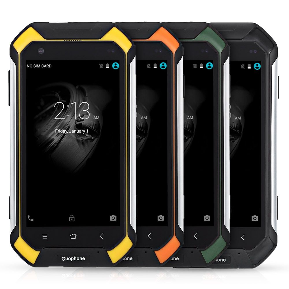 Guophone V19 IP68 Waterproof Android Mobile Phone 8MP MT6580 Quad Core 2GB+16GB 4.5'' Dustproof Shockproof 3G Smartphone 4500mAh