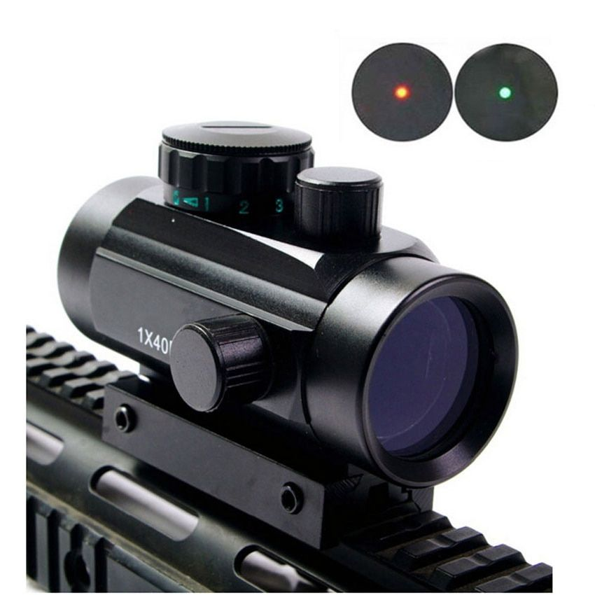 1X40 Tactique Holographique Sight Red Dot Sight Crosshair Rouge Dot Scope pour 11mm 20mm Picatinny Rail montage Vert Dot Sight