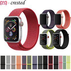Faixa de Relógio de Nylon strap Para Apple 4 42mm 44mm Banda iWatch 38mm 40mm Loop de Esporte pulseira pulseira de relógio Maçã 3 2 1 Acessórios