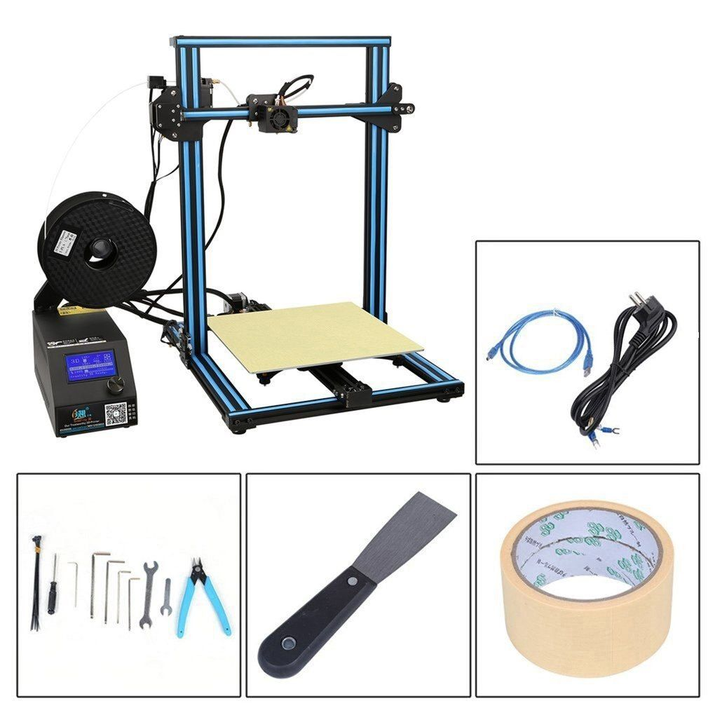 Creality 3D CR-10S High Precision DIY 3D Printer Kit 300*300*400mm Printing Size With Dual Z-Rod Lead Motor Filament Detector
