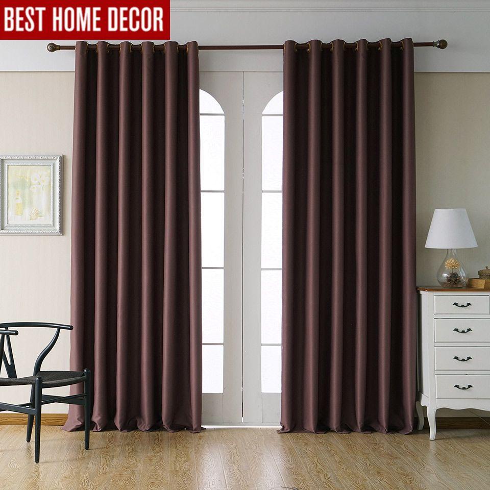Rideaux occultants modernes pour salon chambre rideaux pour traitement de fenêtre rideaux solide fini rideaux occultants 1 panneau