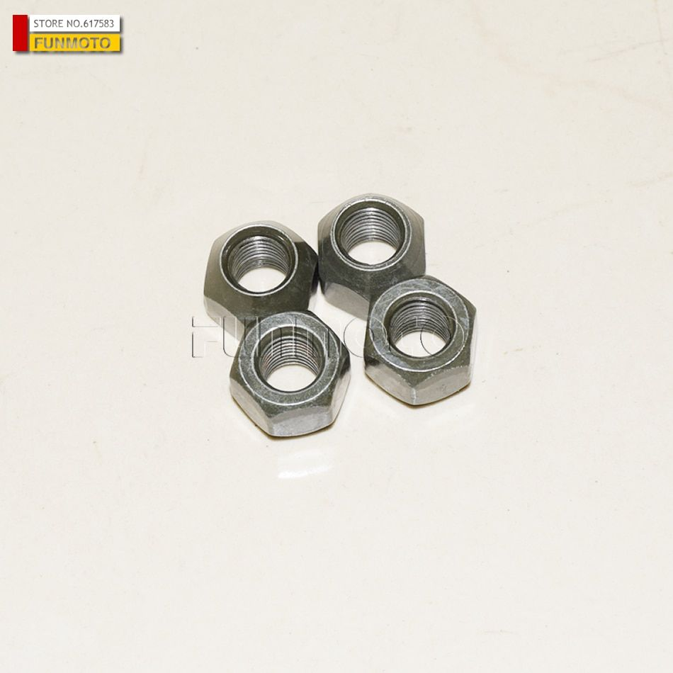4 PIECES FRONT AND REAR WHEEL RIM NUT FOR JIANSHE 250ATV/400ATV