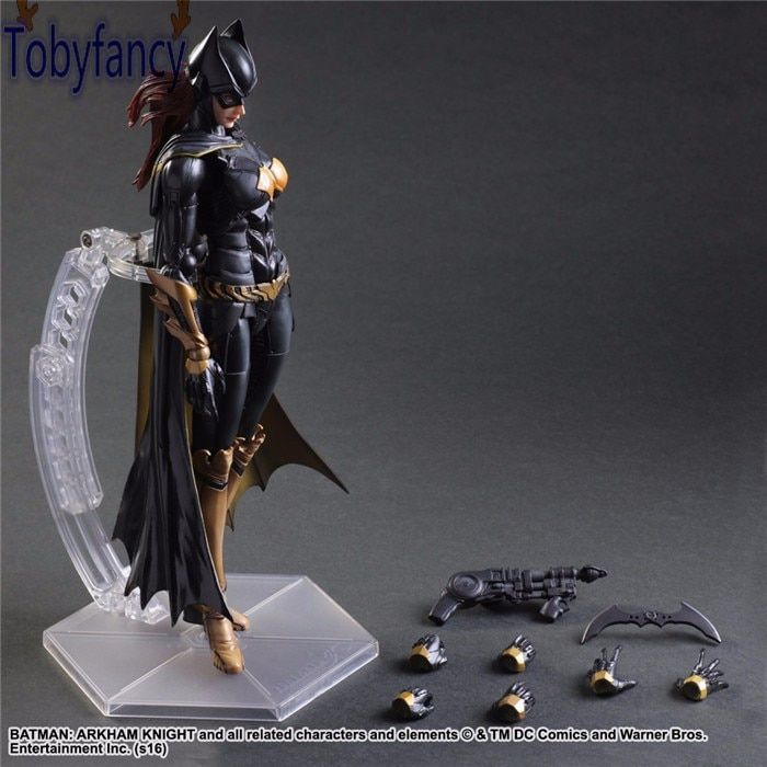 Batgirl Action Figures Play Arts Kai PVC Toys Batman Arkham Knight 260mm Anime Movie Playarts Kai Model Justice League Tobyfancy