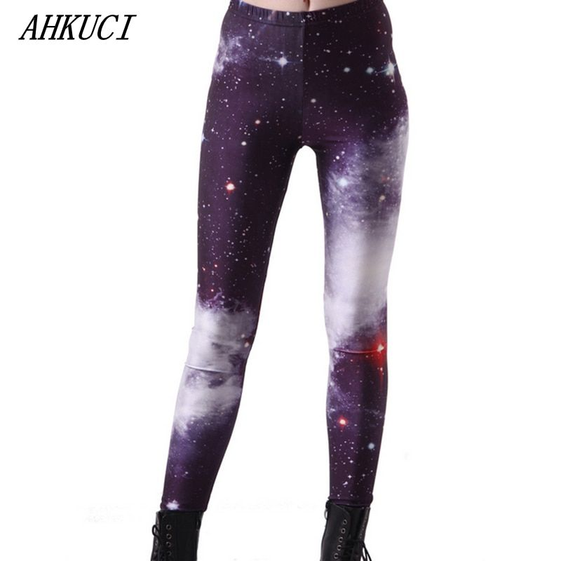 2017 Новый дизайн женские цветные Galaxy Леггинсы Вселенная пространство riddler леггинсы 3D печатных S-5XL плюс размер тонкий Pantalon Mujer