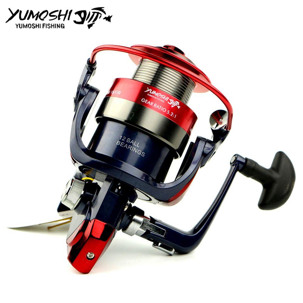 Fishing Spinning Reel Metal Spool 12 Ball Bearing 2000-7000 Series Hot Wheels carretilhas de pescaria fishing tackle