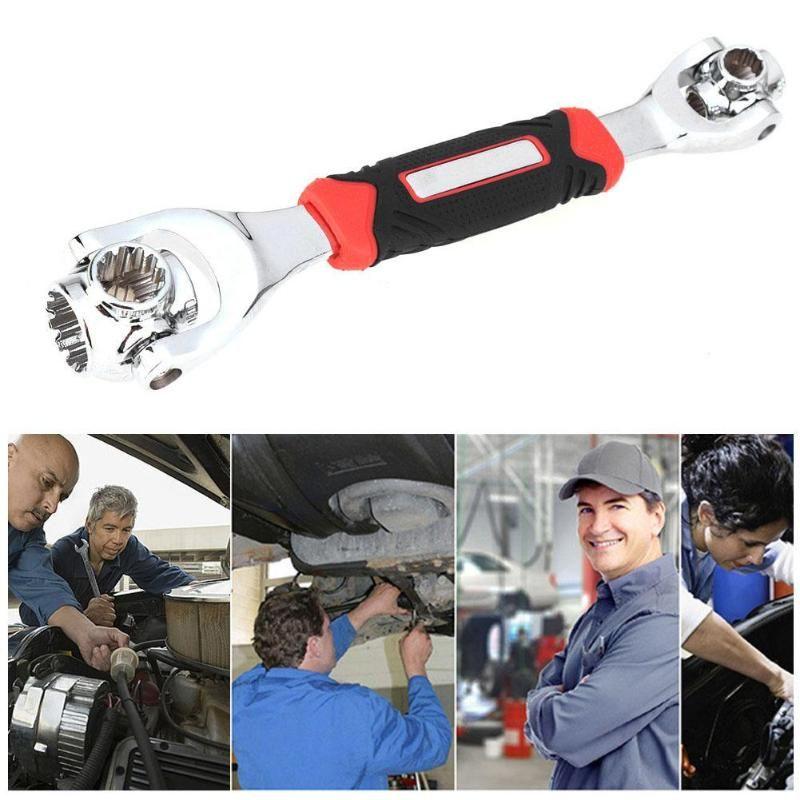 48 en 1 Tiger clé outils clé à douille fonctionne avec des boulons cannelés Torx 360 degrés 6 points hexagones prise voiture réparation outils à main
