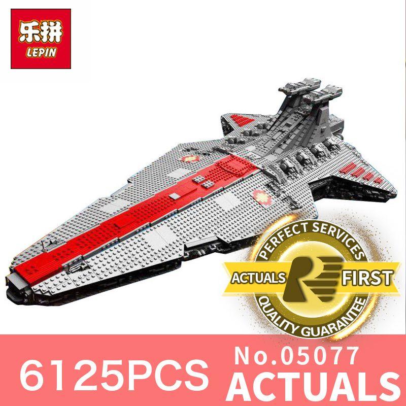 Sternzerstörer Wars LegoINGly 6125 Stücke Lepin 05077 Klassische ucs Republic Cruiser lustige Bausteinziegelsteine Spielzeug Modell Geschenk