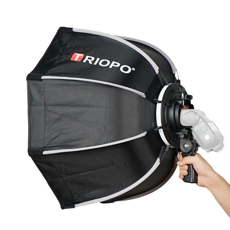TRIOPO 65cm Foldable Softbox Octagon Soft box w/Handle for Godox Yongnuo On-Camera Speedlite Flash Light photography studio