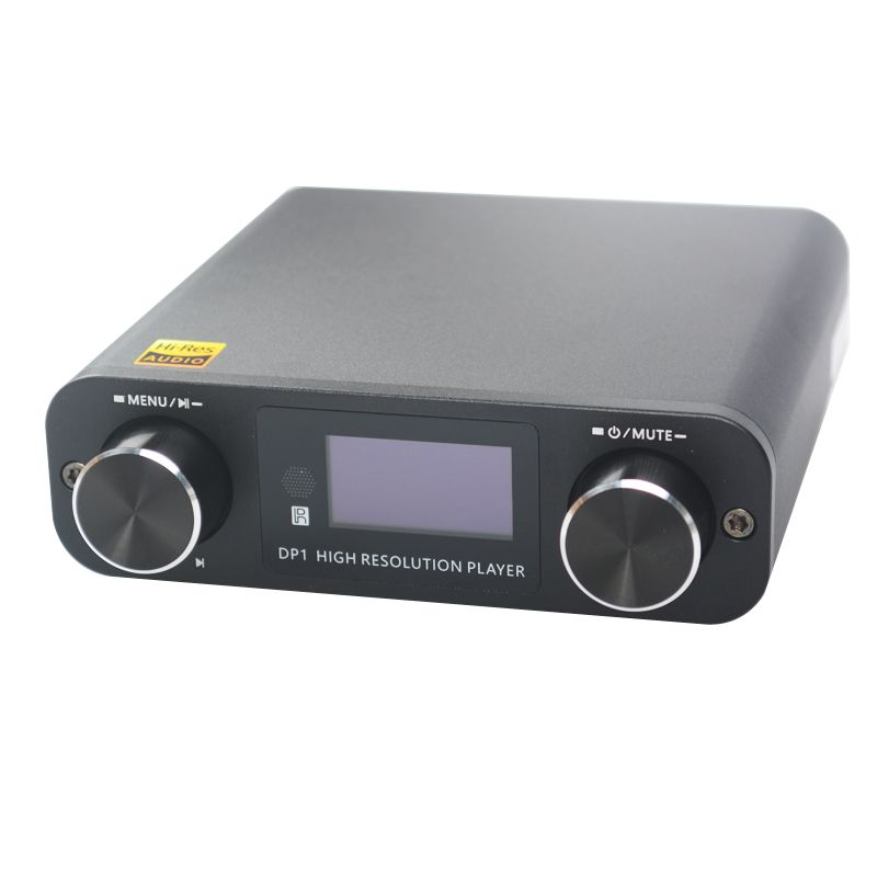 SMSL DP1 HIFI Lossless Player AK4452 Audio USB DAC Decoding Digital Turntable Amplifier SD Card/Optical/USB Input DC9V