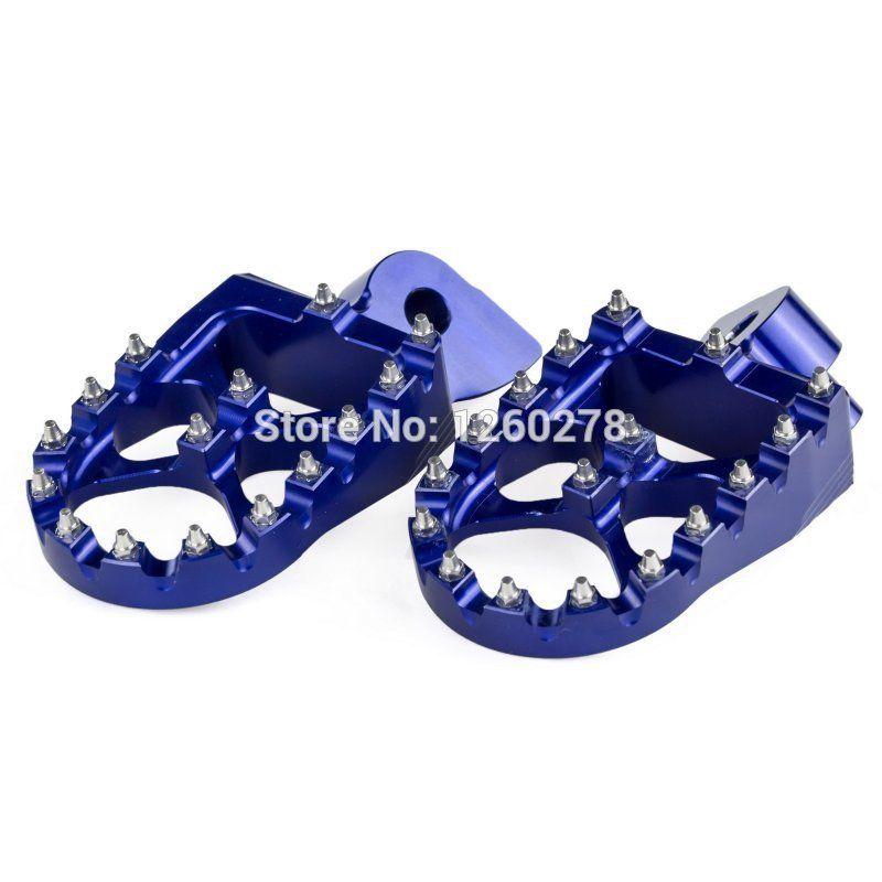 NICECNC Blue Motocross WIDE FAT FOOT PEGS FOOTREST For Yamaha YZ85/125/250 400F 426F WR250R/F/X WR400F WR450F YZ250FX