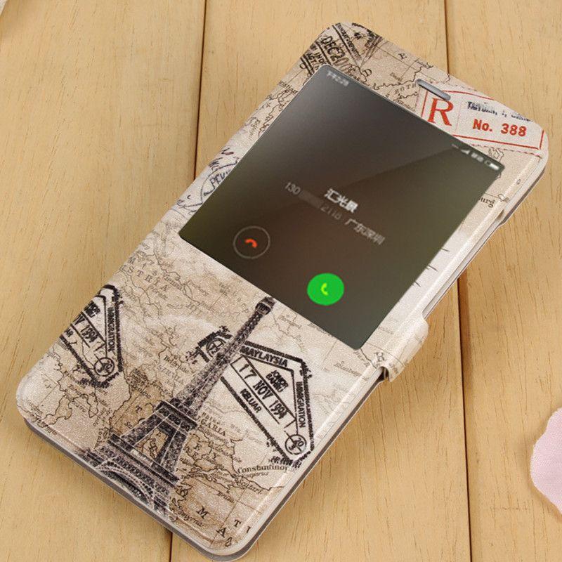 Pour Xiaomi Redmi Note 4X Flip Cas de Couverture Pour Redmi Note 4X bande dessinée Fenêtre En Cuir Veille Téléphone Cas Pour Redmi Note 4X Couverture