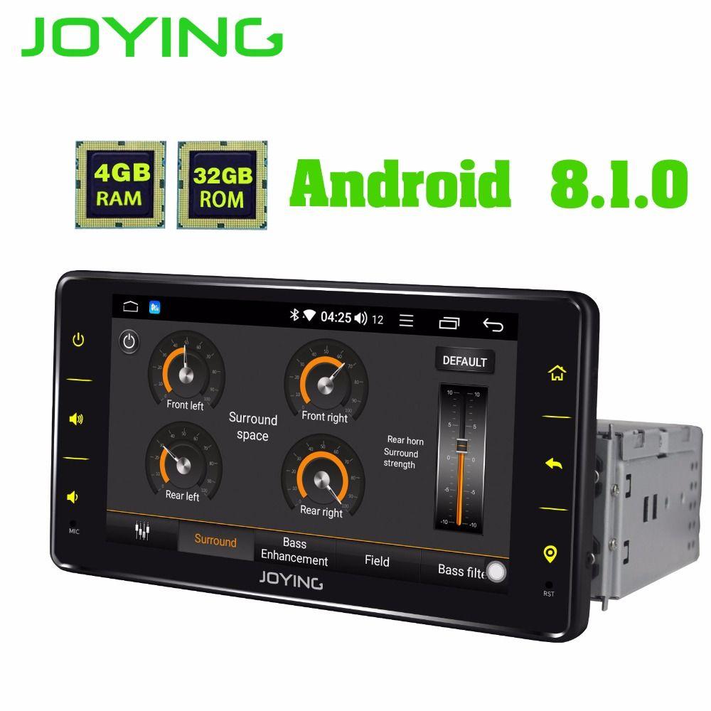 JOYING 4 GB RAM 32 GB ROM 6,2 ''1 DIN Android 8.1 auto stereo kopf einheit bluetooth FM RDS radio player unterstützung rückansicht kamera dvr