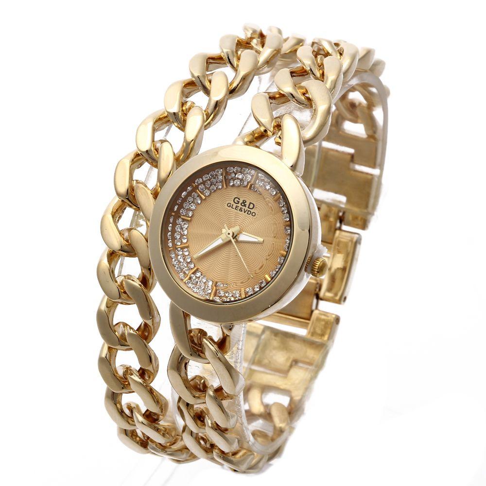 G & D luxe femmes Bracelet montres en acier inoxydable femmes montres à Quartz mode tenue décontractée montres pour dames cadeaux