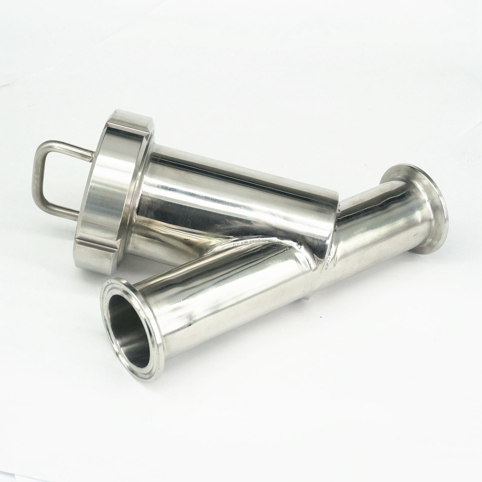Fit 38mm Rohr OD x 1,5 Tri Clamp SUS304 Sanitär Y Schmutzfänger Filter Hause Brauen Wein