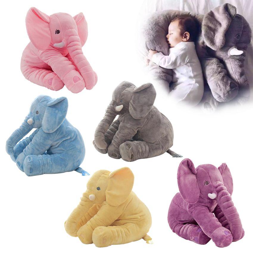 40/60cm mode bébé Animal en peluche éléphant poupée en peluche éléphant en peluche doux oreiller enfant jouet enfants chambre lit décoration jouet cadeau