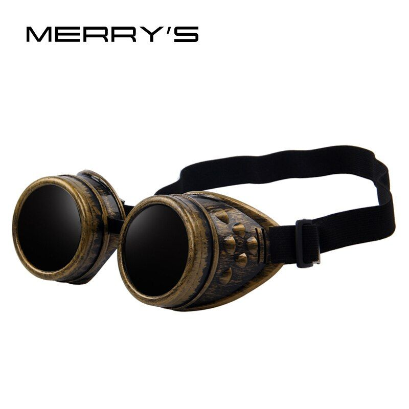 MERRY'S Unisex Punky Gótico Gótico Victoriano Vintage Gafas de Soldadura Gafas de Cosplay
