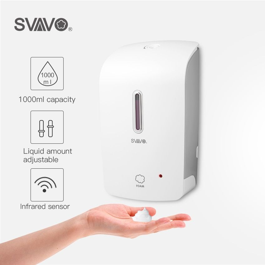 Distributeur automatique de savon en mousse pour salle de bain 1000ml mural intégré infrarouge intelligent capteur douche shampooing distributeur de savon en mousse
