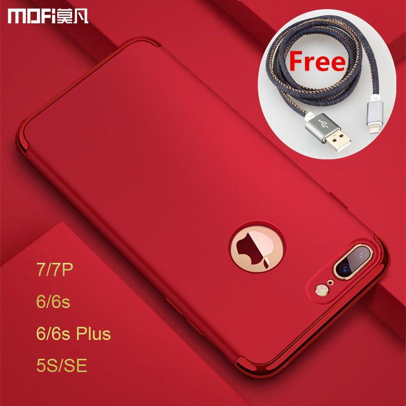 For iphone 7 plus case luxury protection MOFi for iphone 6s plus case Red for iphone 5s SE cover for iphone 7 case 6s capa coque