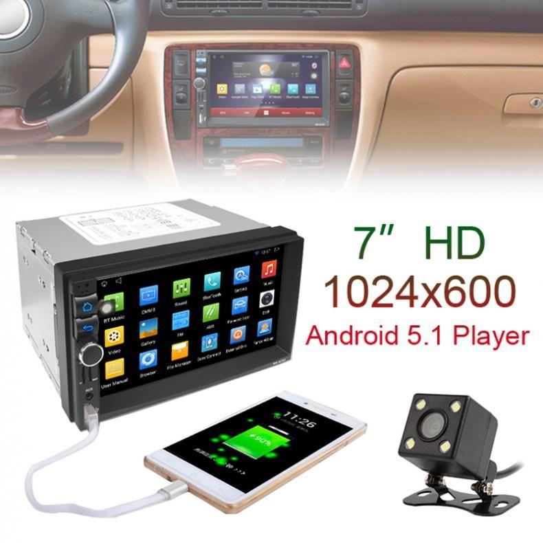 7 pouces voiture DVD GPS lecteur capacitif HD écran tactile Radio stéréo 8G/16G Suppot vue arrière caméra entrée Android 5.1.1