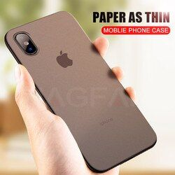 NAGFAK 0,29mm Matte teléfono caso para el iPhone 6 6 s más 8 7 más caso Ultra fino cubierta dura para el iPhone X 5 5S SE 10 Phone Bag casos