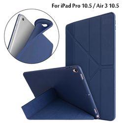 Untuk iPad Pro 10.5 Case untuk iPad Air 3 10.5 2019 PU Kulit dengan Silikon Lembut Kembali Pintar untuk ipad Pro 10.5 2017 Case Funda