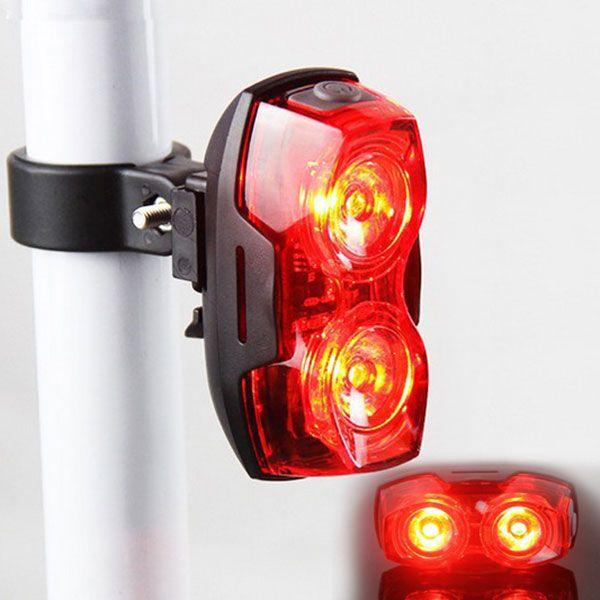 Neue Helle Fahrrad Radfahren 2 LED Blinkt Lampe Sicherheit Zurück Hinten Rückleuchten 88 B2Cshop