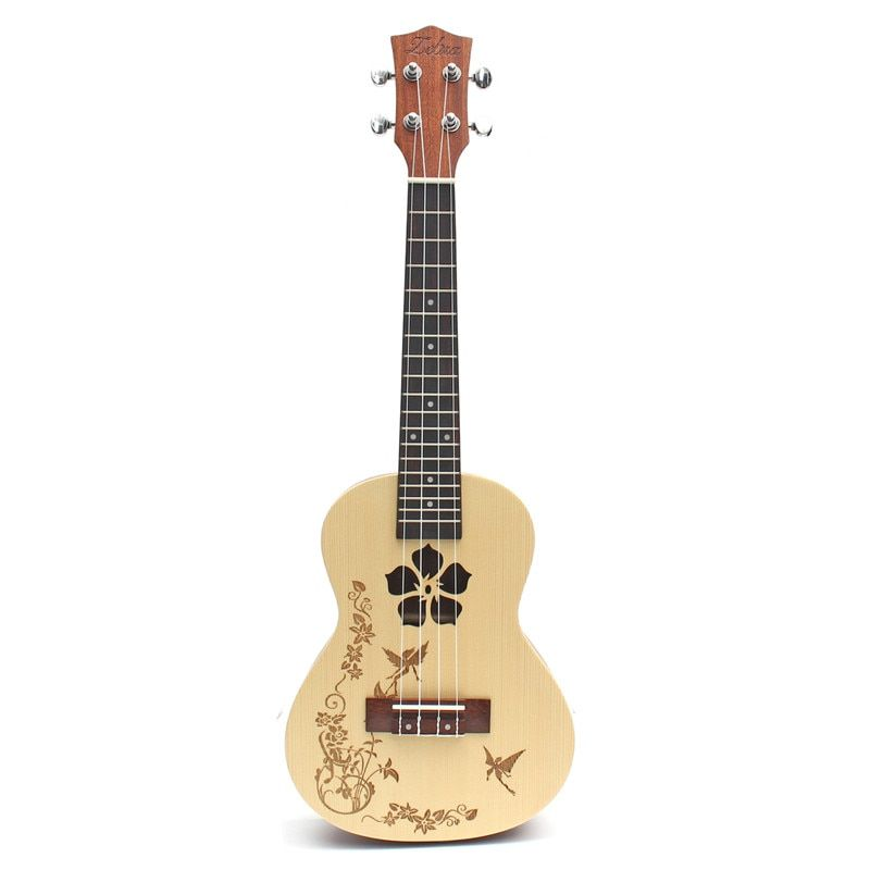 Zebra 23'' 4 Strings Flower Concert Ukulele Uke 18 Fret Hawaii Rosewood Guitarra Guitar For Musical Instruments Lovers Beginner