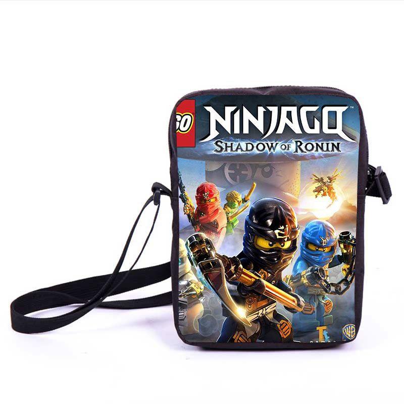 Enfants dessin animé modèle Mini sac à bandoulière élèves de l'école primaire Lego Ninjago sac de Messager pour garçon fille personnaliser pochette pour crayons