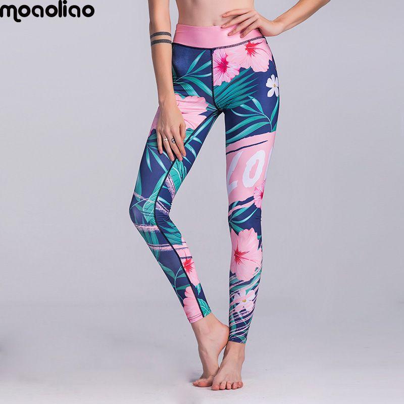 Flower Sport Tights Women Yoga Leggings Quick Dry Breathable Dance Pant Print Yoga Pants Tights Fitness Gym Running Leggings
