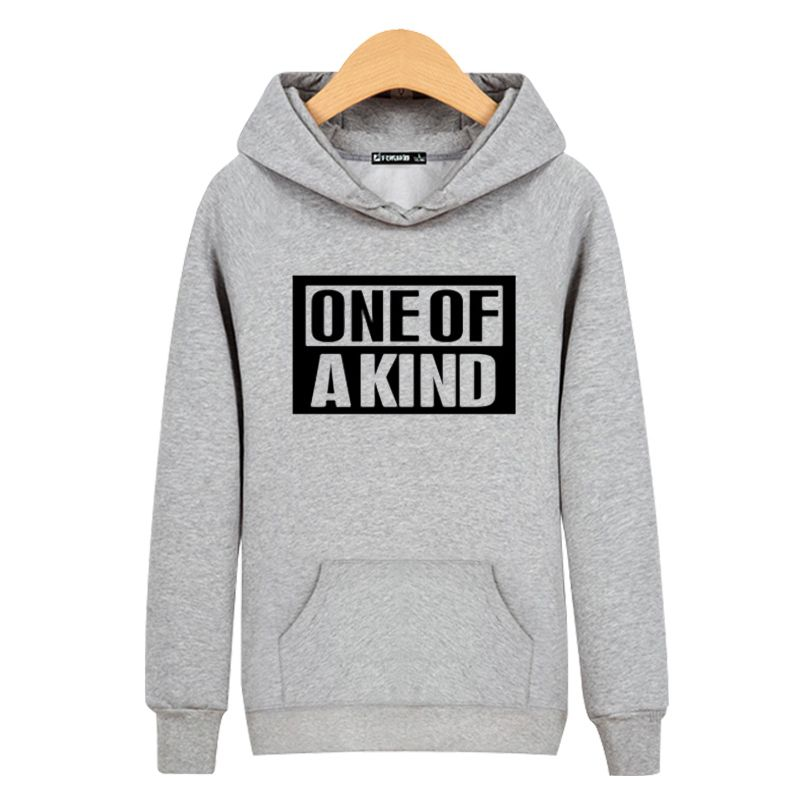 Fashion BigBang Style Black/Gray Mens Hoodies And Sweatshirts 3XL With ONE OF A KIND New Print Long O Neck Sweashirts Clothing