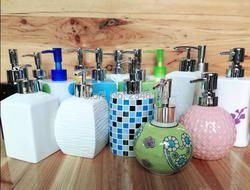 Keramik Emulsi Cair Kosong Botol Sabun Dispenser Hotel Aksesori Kamar Mandi Kelas Tinggi Shampoo Botol Kemasan 630 ML