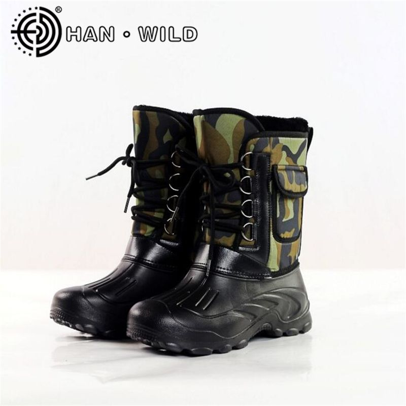 2018 Autumn Winter Boots Men Fishing Boots Non-slip Waterproof Work Shoes Snow Boots Men Warm Skiing Boots Outdoor Shoes