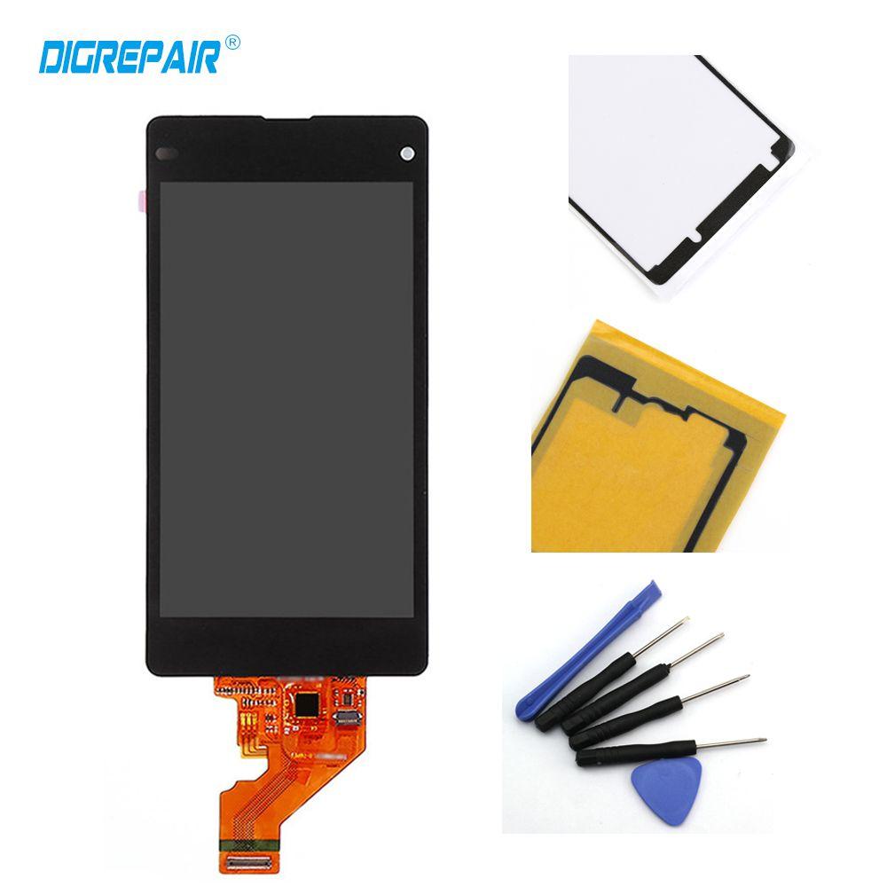 100% Testé Noir Pour Sony Xperia Z1 Mini Compact D5503 M51W LCD Affichage à L'écran Tactile Digitizer Assemblée + Adhésif + Outils de réparation