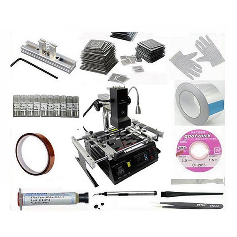 Original infrarot BGA rework station IR6500 23 stücke bga schablonen 21 in 1 bga reballing kit
