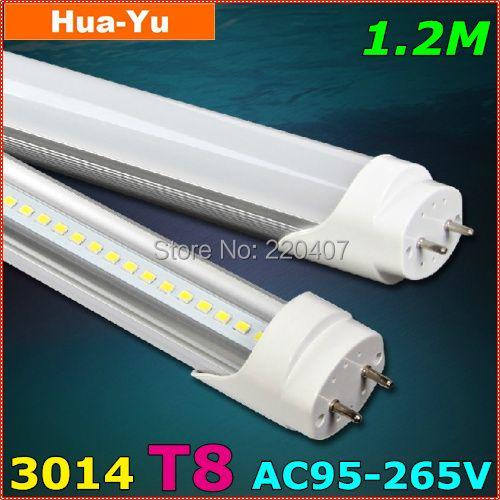 30pcs,1200mm T8 led tube light, AC95-265V 18W led t8,SMD3014 1600lm Top quality Epistar Chip Cold white/White/Warm white