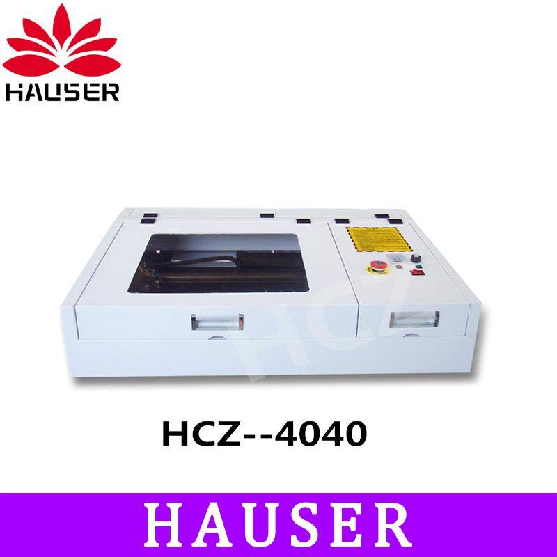 Freeshipping HCZ 4040 50 watt Co2 laser gravur maschine laser cuttering maschine laser stecher, DIY laser kennzeichnung maschine cnc