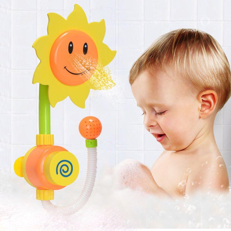 Sunflower Baby Bath Toys Water Shower Spray Bathing Tub Fountain Toy for Kid Children Gifts BM88