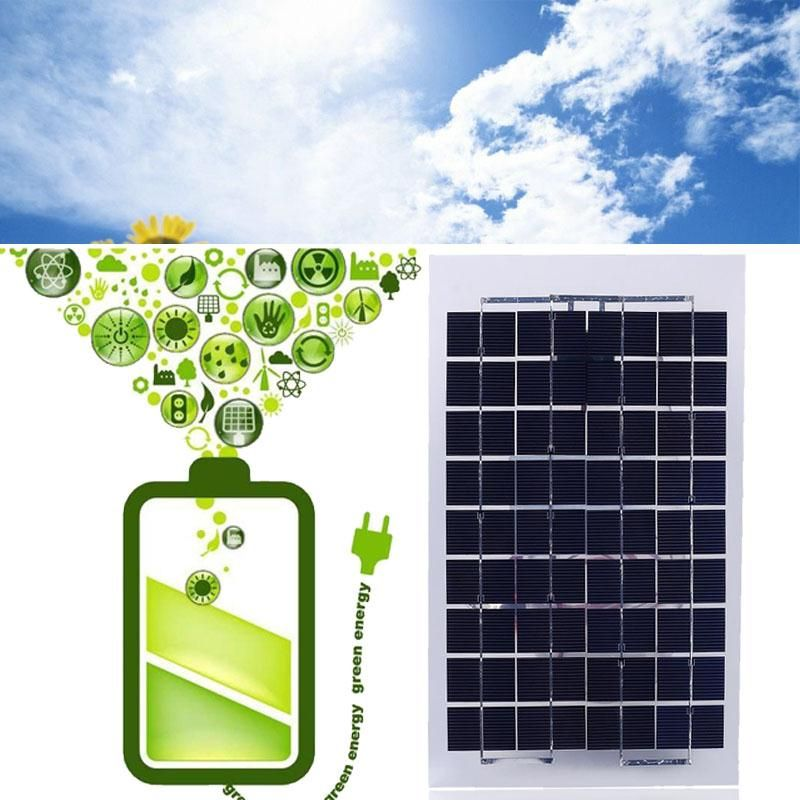 12V 10W Waterproof Solar Power Panel Battery Charging Board Charger Travel Ink Black Polycrystalline Silicon 37.5 x 22 x 0.24cm