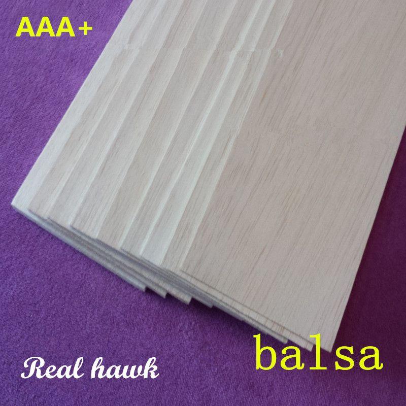Balsa Bois Feuilles plis 250mm longue 100mm large 0.75/1/1.5/2/2.5/ 3/4/5/6/7/8/9/10mm épais 10 pcs/lot pour avion RC bateau modèle BRICOLAGE